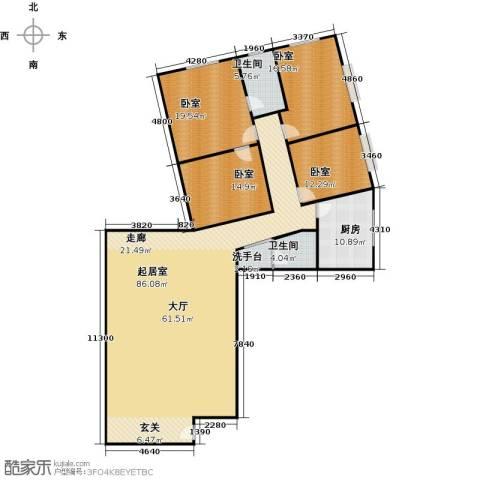 天通・公园里商住4室1厅2卫0厨182.00㎡户型图