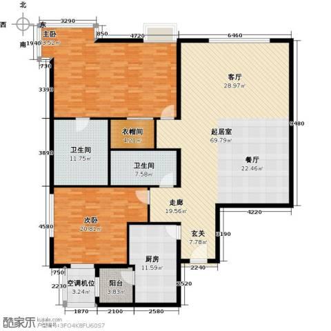 棕榈泉白金公寓178.00㎡户型图