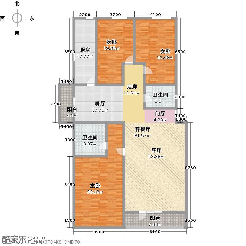 琴湖湾(东方太阳城Ⅲ)220.03㎡B23户型10室