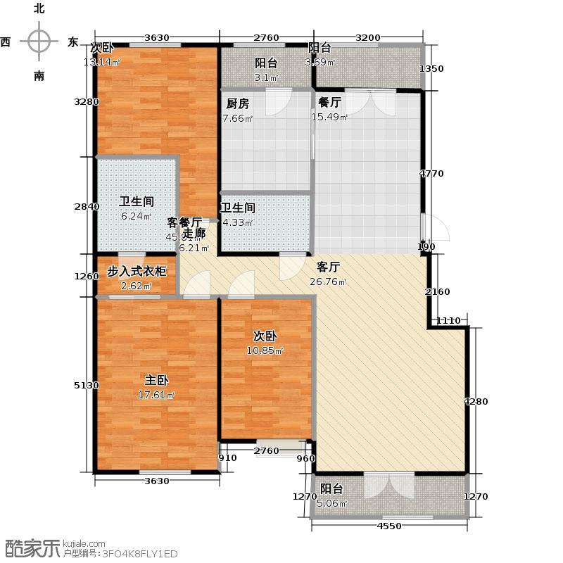 保利西山林语公寓120.70㎡XA-3-B-2户型10室