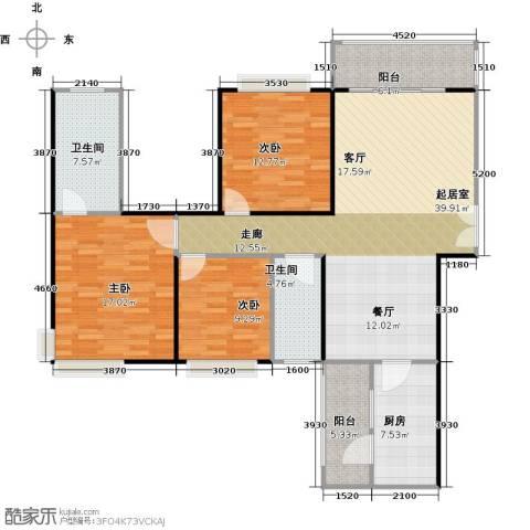 龙湾国际3室2厅2卫0厨148.00㎡户型图