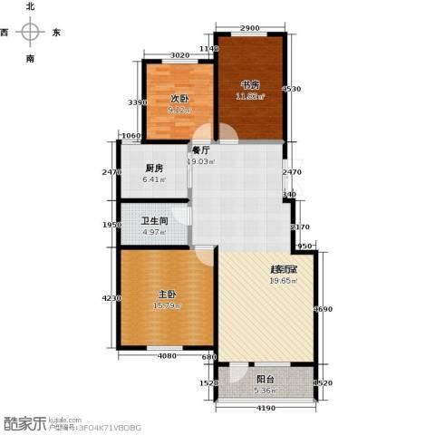 昂展公园里3室2厅1卫0厨108.00㎡户型图