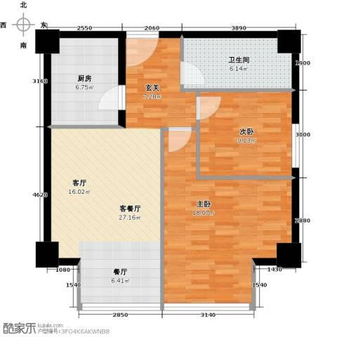 德胜君玺2室1厅1卫0厨100.00㎡户型图