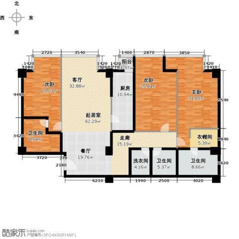 德胜君玺3室2厅3卫0厨267.00㎡户型图