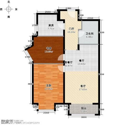 华润置地・润景公馆2室2厅1卫0厨98.00㎡户型图