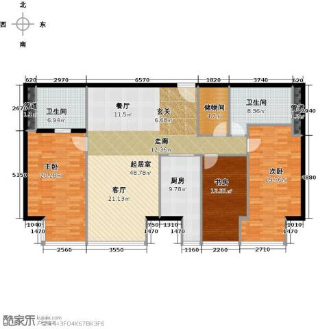 德胜君玺3室2厅2卫0厨197.00㎡户型图