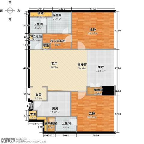 东方之门2室2厅3卫0厨169.00㎡户型图