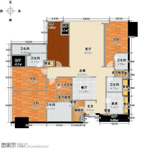 东方之门4室2厅4卫0厨254.00㎡户型图