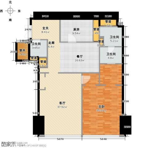 东方之门1室2厅2卫0厨156.00㎡户型图