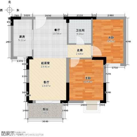野风・现代景苑81.00㎡户型图