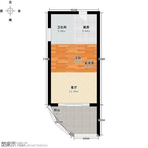 佳兆业东戴河1室1厅1卫0厨41.00㎡户型图