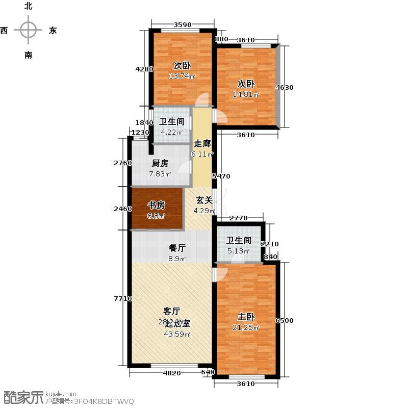 龙湖时代天街(住宅)145.00㎡户型4室2厅2卫