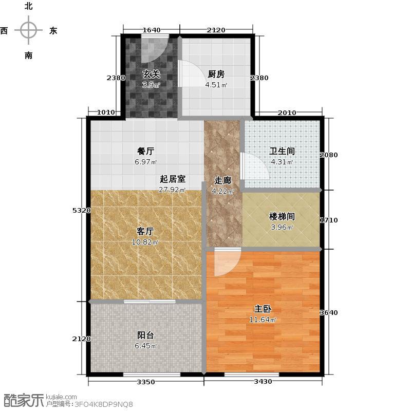 京汉铂寓(石景山)159.00㎡F2、F2反1层户型10室