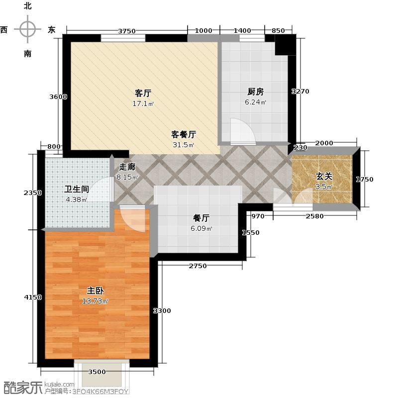 京贸国际城81.13㎡3号楼E4a户型10室