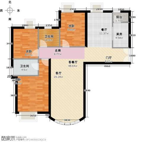 新华联运河湾3室2厅2卫0厨149.00㎡户型图