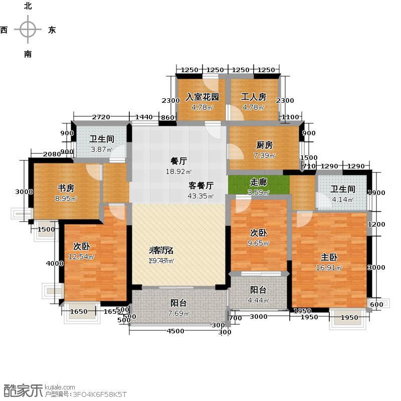 勤诚达22世纪145.91㎡3号楼A座户型4室2厅2卫