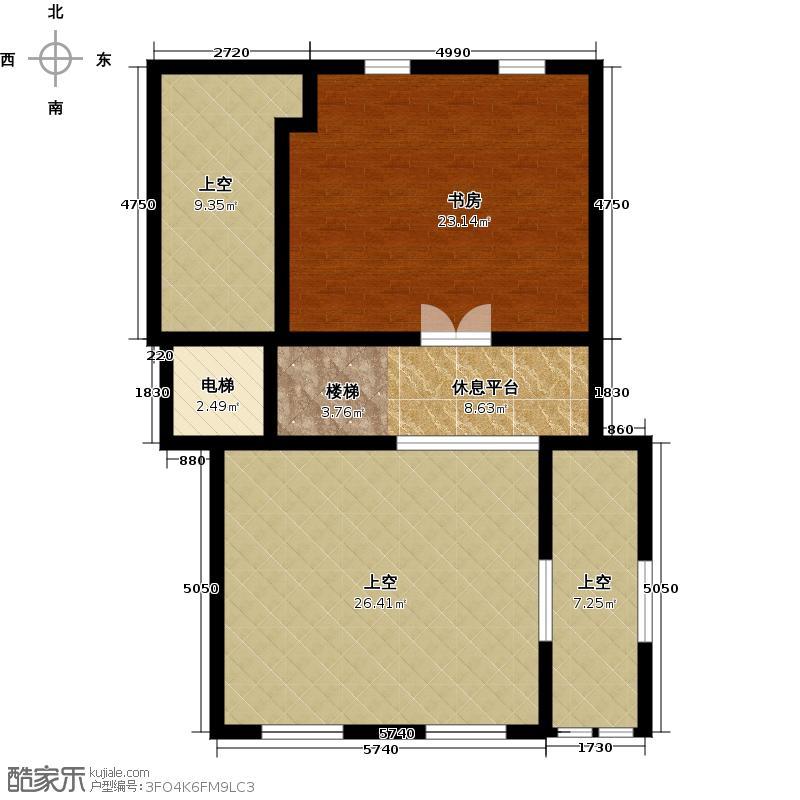 湖漫雅筑89.00㎡地下半层户型10室