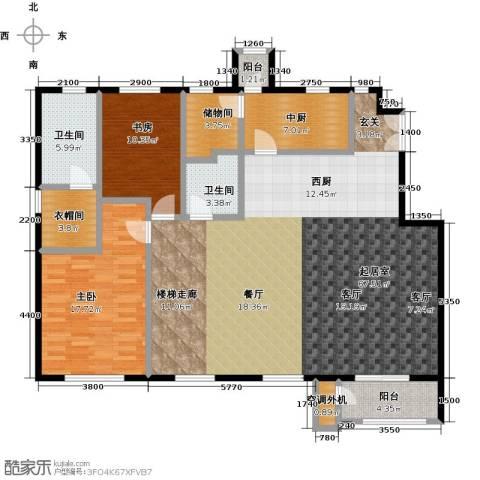 鹭岭2室2厅2卫0厨175.00㎡户型图