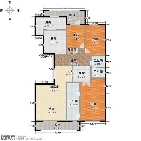 五矿万科・如园3室2厅2卫0厨220.00㎡户型图