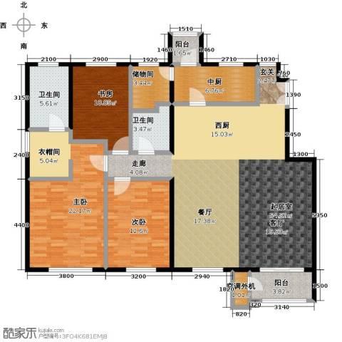 鹭岭3室2厅2卫0厨176.00㎡户型图