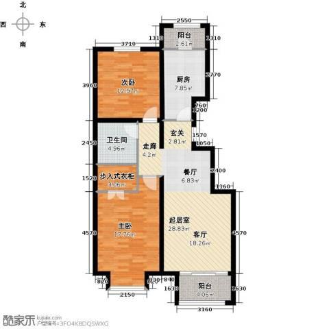 绿地新都会・国际花都2室2厅1卫0厨94.00㎡户型图