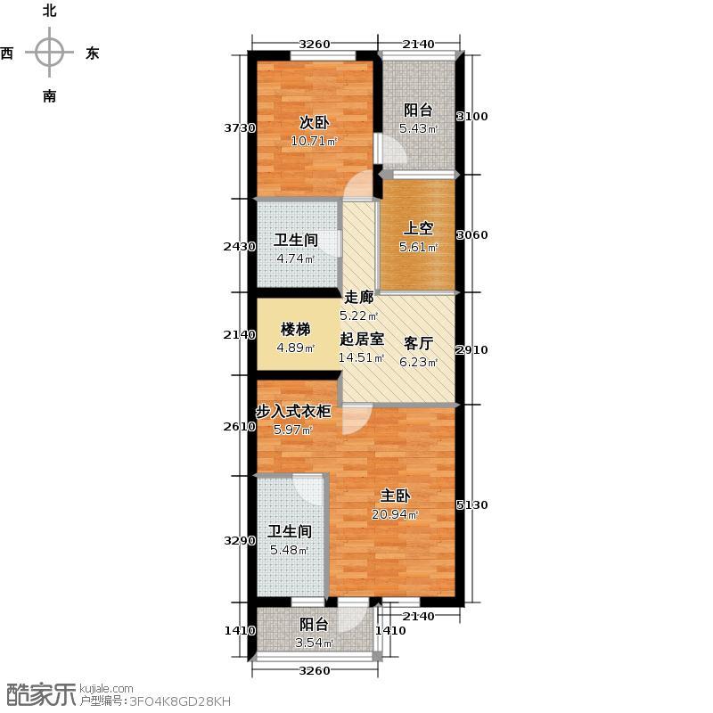 尚东庭81.29㎡B3二层平面户型10室