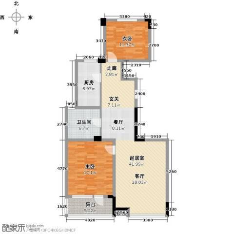 绿城・海宁百合新城2室2厅1卫0厨104.00㎡户型图