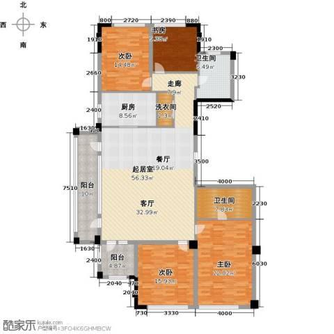 绿城・海宁百合新城4室2厅2卫0厨173.00㎡户型图