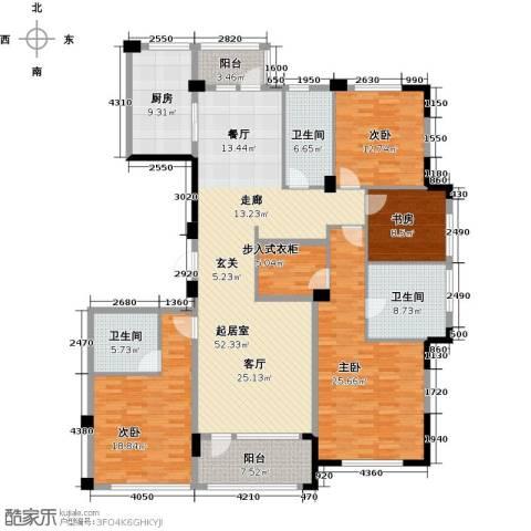 绿城・海宁百合新城4室4厅3卫0厨182.00㎡户型图