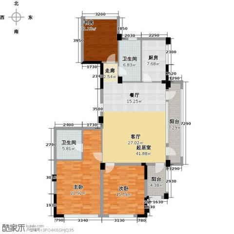 绿城・海宁百合新城3室2厅2卫0厨137.00㎡户型图