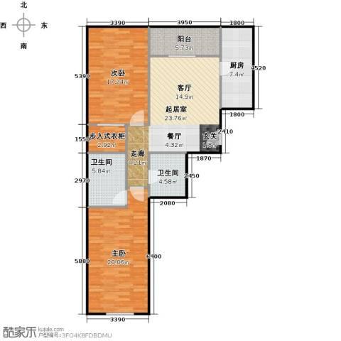 京汉铂寓(石景山)112.00㎡户型图