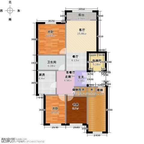 华润・润西山3室2厅1卫0厨125.00㎡户型图