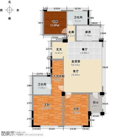 绿城・海宁百合新城3室2厅2卫0厨142.00㎡户型图