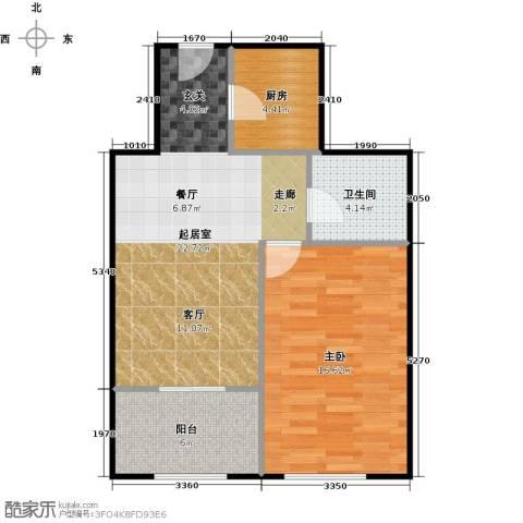 京汉铂寓(石景山)68.00㎡户型图