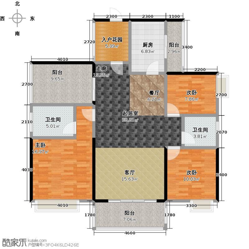 美的城140.00㎡户型3室2厅2卫