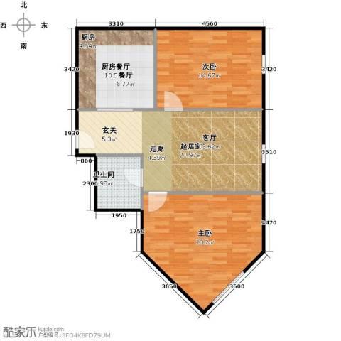 京汉铂寓(石景山)86.00㎡户型图