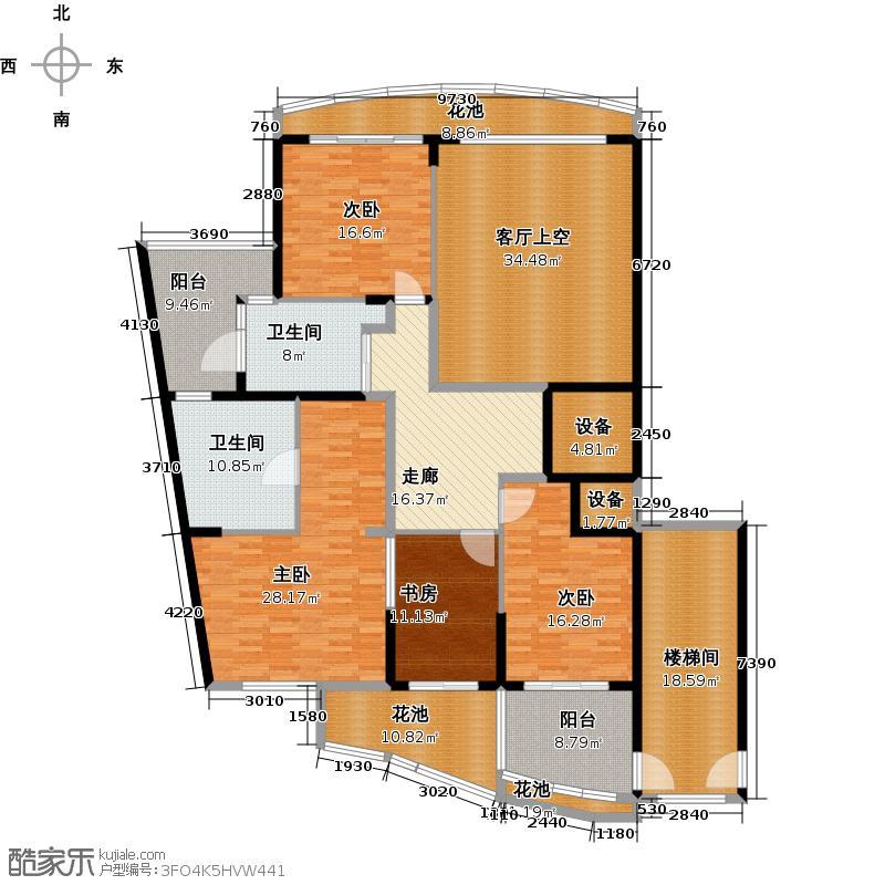 金都汉宫412.00㎡汉宫一号特别限量版C1顶跃第二层户型4室2卫
