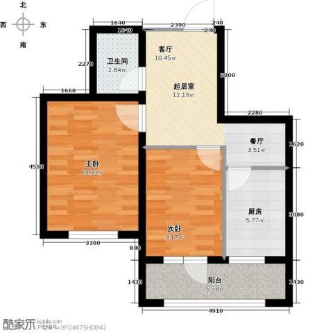 长堤湾2室2厅1卫0厨70.00㎡户型图