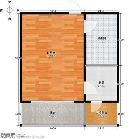 青城庄园1室0厅1卫0厨43.00㎡户型图