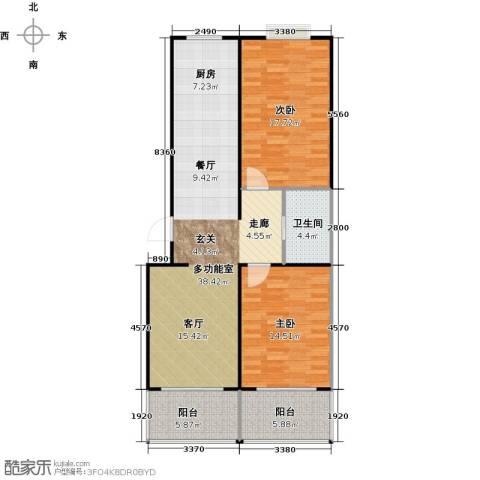 青城庄园2室2厅1卫0厨92.00㎡户型图