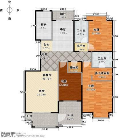 益田影人四季花园3室2厅2卫0厨150.00㎡户型图