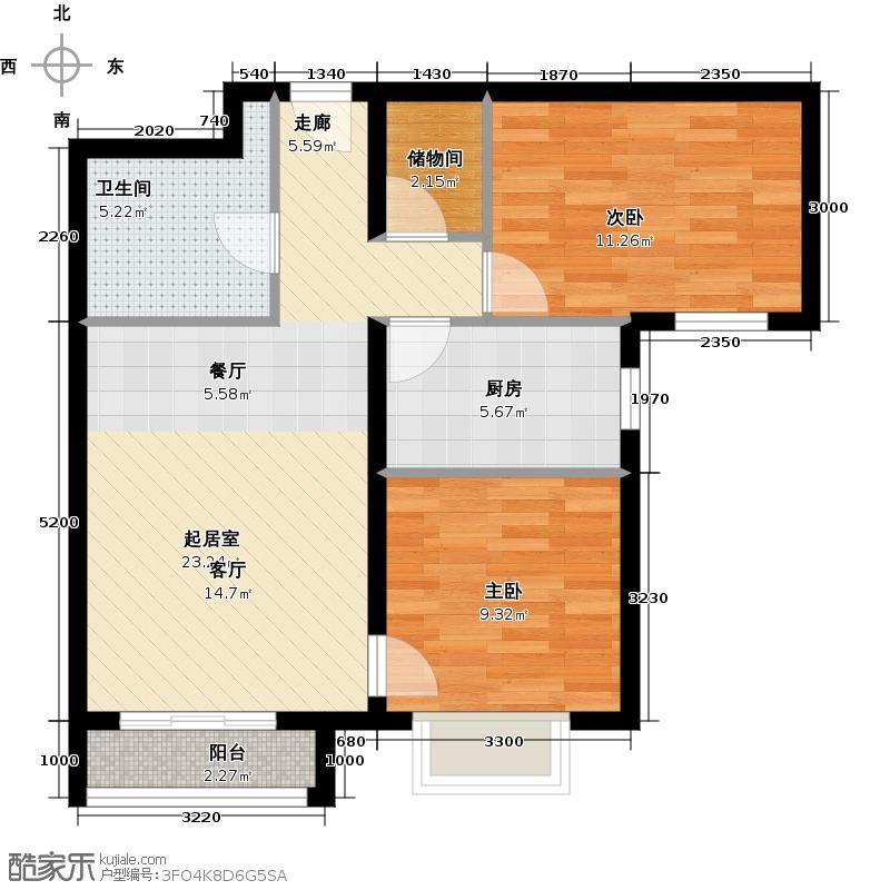 首城国际中心87.88㎡D区2-I(已售完)户型10室