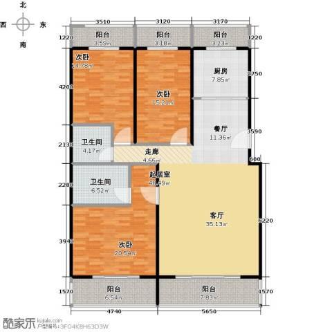 众智慧谷3室2厅2卫0厨155.00㎡户型图