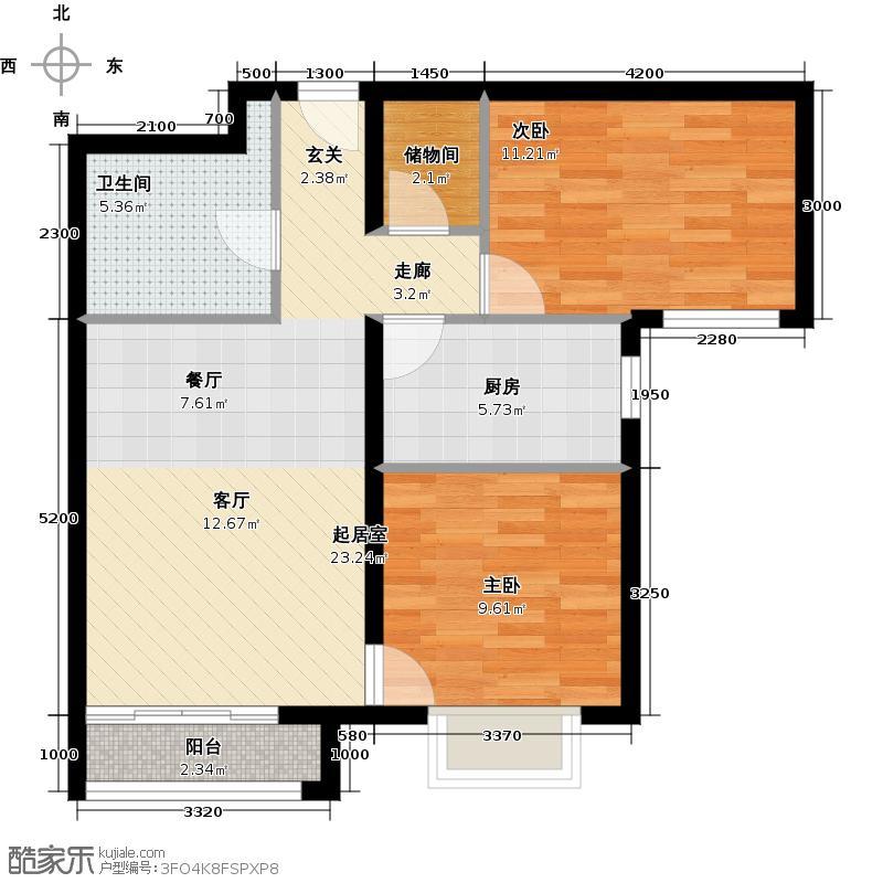 首城国际中心85.00㎡D区2-I(已售完)户型10室