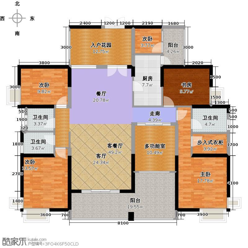 勤诚达22世纪186.99㎡1号楼02型户型4室2厅2卫