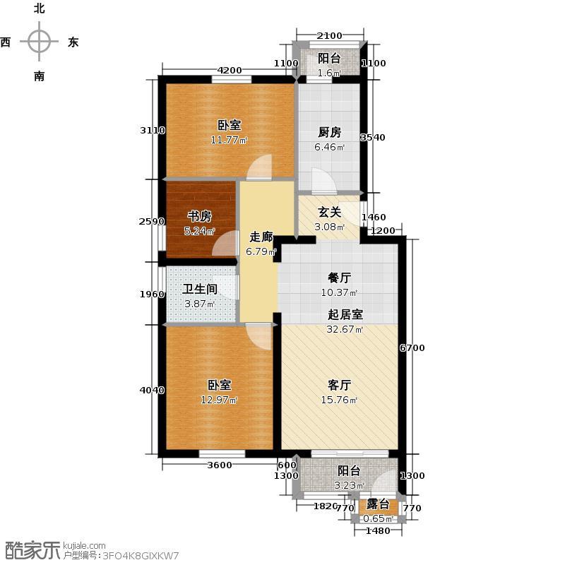 阿尔法社区99.00㎡二期2-2a二层户型10室