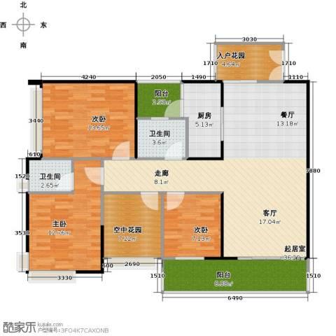 纯水岸3室2厅2卫0厨113.54㎡户型图