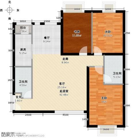 禧福汇国际社区137.00㎡户型图