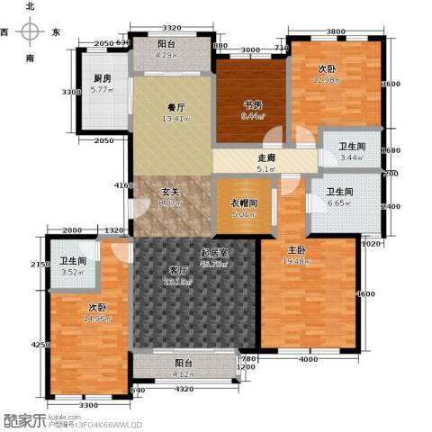 领秀・翡翠山4室2厅3卫0厨185.00㎡户型图