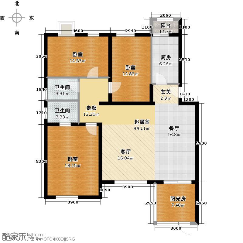阿尔法社区139.00㎡二期花园洋房西1层户型10室
